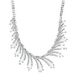 Jon Richard - Diamante crystal curved spray necklace