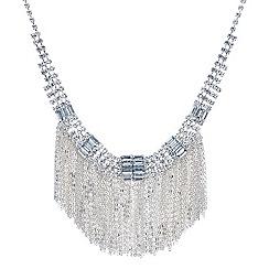 Jon Richard - Diamante crystal chain tassel drop necklace