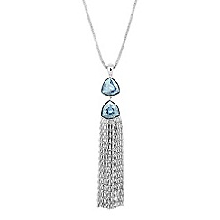 Jon Richard - Trilliant double crystal drop necklace MADE WITH SWAROVSKI ELEMENTS