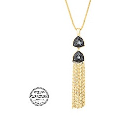 Jon Richard - Silver night tassel necklace MADE WITH SWAROVSKI ELEMENTS