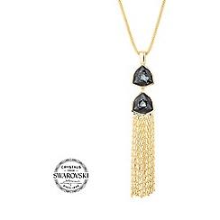 Jon Richard - Silver night tassel necklace MADE WITH SWAROVSKI CRYSTALS