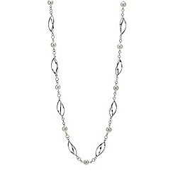 Jon Richard - Cream pearl and twisted link rope necklace