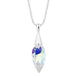 Jon Richard - Lavender twisted drop pendant MADE WITH SWAROVSKI CRYSTAL