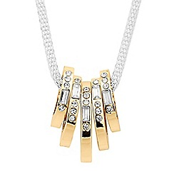 Jon Richard - Baguette crystal encased disc mesh necklace