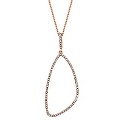 Jon Richard - Crystal embellished geometric drop necklace