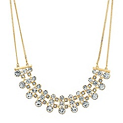 Jon Richard - Graduated crystal circle and square bar necklace