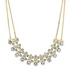 Jon Richard - Graduated crystal circle and square bar necklace