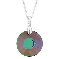 Jon Richard - Paradise shine crystal round drop necklace MADE WITH SWAROVSKI CRYSTALS