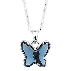 Jon Richard - Blue crystal butterfly necklace MADE WITH SWAROVSKI CRYSTALS