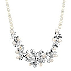 Alan Hannah Devoted - Designer primrose pave flower and pearl necklace