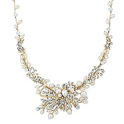 Alan Hannah Devoted - Designer dahlia freshwater pearl and opal necklace