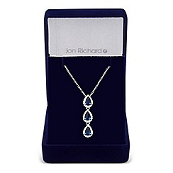 Jon Richard - Orchard cubic zirconia pear drop pendant