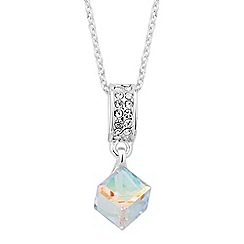 Jon Richard - Mini crystal cube drop necklace MADE WITH SWAROVSKI CRYSTALS