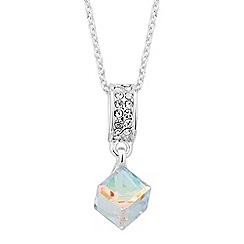 Jon Richard - Mini crystal cube drop necklace MADE WITH SWAROVSKI CRYSTALS