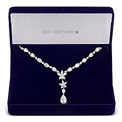 Jon Richard - Statement cubic zirconia botanical drop necklace