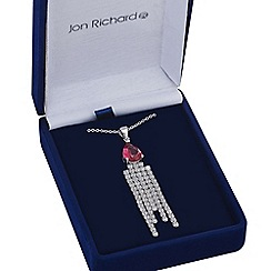 Jon Richard - Red cubic zirconia tassle pendant