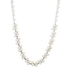 Jon Richard - Pearl and mini crystal link necklace