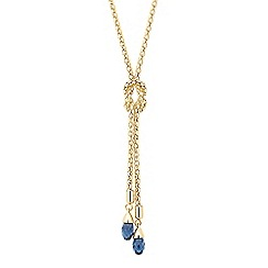 Jon Richard - Blue briolette drop necklace MADE WITH SWAROVSKI CRYSTALS