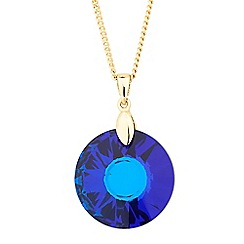 Jon Richard - Blue round drop necklace MADE WITH SWAROVSKI CRYSTALS