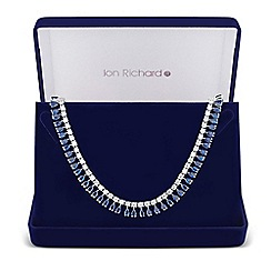 Jon Richard - Blue cubic zirconia teardrop link necklace