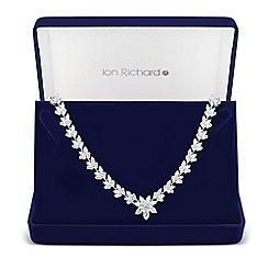 Jon Richard - Botanical cubic zirconia statement necklace