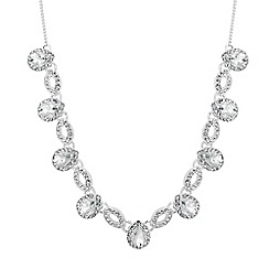 Alan Hannah Devoted - Designer peardrop crystal surround link necklace