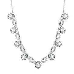 Alan Hannah Devoted - Designer peardrop crystal surround link necklace