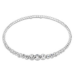 Jon Richard - Graduated diamante crystal choker necklace