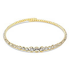 Jon Richard - Graduated round crystal choker necklace