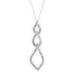 Jon Richard - Crystal embellished triple drop necklace