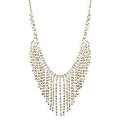 Jon Richard - Diamante tassel shower drop necklace