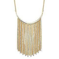 Jon Richard - Diamante crystal tassel chain collar necklace