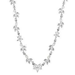 Jon Richard - Pearl crystal flower necklace