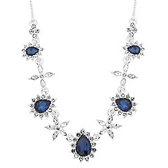 Jon Richard - Kate blue crystal statement necklace