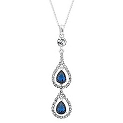 Alan Hannah Devoted - Elegant blue crystal drop necklace