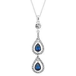 Alan Hannah Devoted - Elegant blue crystal drop necklace