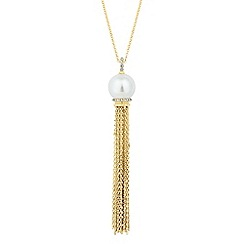 Jon Richard - Pearl tassel long necklace