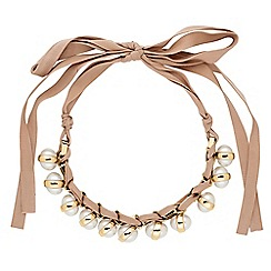 Jon Richard - Luxe pearl ribbon necklace