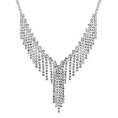 Jon Richard - Diamante crystal fringe necklace