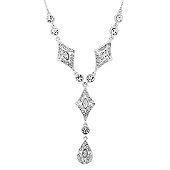 Alan Hannah Devoted - Designer crystal art deco necklace