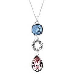 Jon Richard - Triple drop pendant MADE WITH SWAROVSKI CRYSTALS