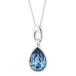 Jon Richard - Teardrop pendant MADE WITH SWAROVSKI CRYSTALS