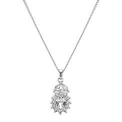 Jon Richard - Cubic zirconia silver flower necklace