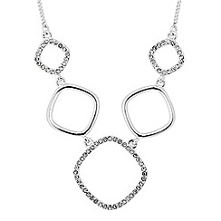 Jon Richard - Pave crystal geometric necklace