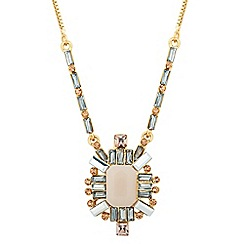 Jon Richard - Luxe pastel geometric necklace