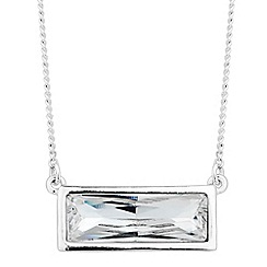 Jon Richard - Crystal baguette necklace MADE WITH SWAROVSKI CRYSTALS