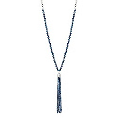 Jon Richard - Faceted bead pearl tassel necklace
