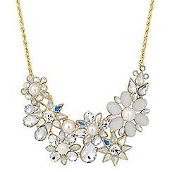 Jon Richard - Aurora borealis pearl statement necklace