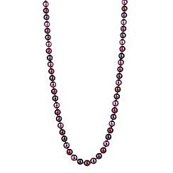 Jon Richard - Purple berry tonal pearl long necklace