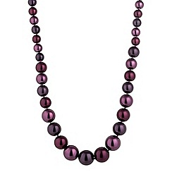 Jon Richard - Purple berry tonal graduated pearl necklace